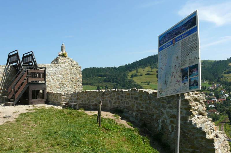 ruiny zamku na Baszcie w Muszynie